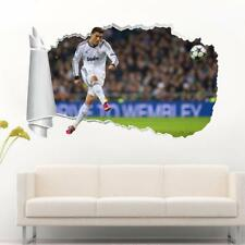 Cristiano Ronaldo Real Madrid 3D Torn Hole Ripped Wall Sticker Decal Art WT218