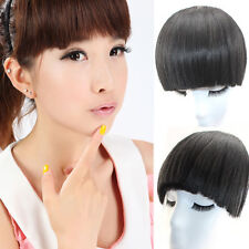 27g Real human hair Bangs Fringe Clips in hair extensions