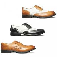 Mister Carlo MONTY Mens Leather Formal Smart Evening Office Brogue Lace Up Shoes