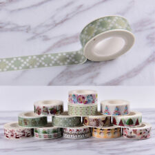 Christmas Washi Tape Paper Masking Sticky Adhesive Roll Craft Decorative New Lo