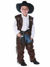 Cowboy Chaps Deluxe Western Wild West Rodeo Mexico Book Week Boys Costume