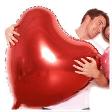 1/2Pc Red Romantic Red Heart Foil Helium Balloons Wedding Party Decoration 75CM
