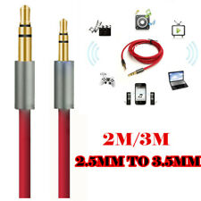 2M 3M 2.5mm to 3.5mm Jack Stereo Aux Cable Auxiliary Lead Car Audio PC Headphone