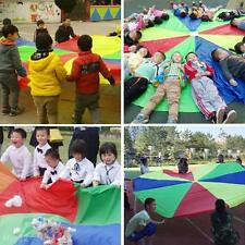 6/10FT Parachute 8/16 Handles Group Play Exercise Indoor Outdoor Team Kids Toy