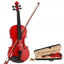 New 3/4 Multiple Colors Acoustic Violin & Case & Bow & Rosin for Violin Beginner