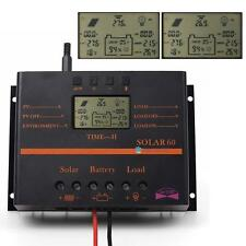60A 80A 12V/24V PWM LCD Display Solar Panel Charge Controller Regulator USB TL