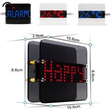 Red Blue Dot Matrix LED Digital Clock Module Electronic Alarm Time Temperature