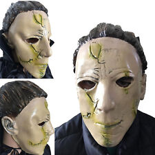 Michael Myers Latex Mask & Black Long Cape Adults Halloween Horror Outfit
