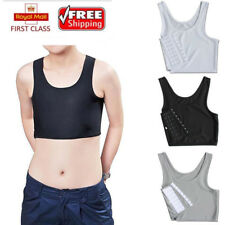 Short Chest Breast Vest Breathable Buckle Binder Trans Lesbian Tomboy Cosplay LC