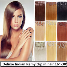 """Full Head 26"""" Indian Remy Human Hair Clip In Extensions 8pcs & 160g, 15 colors"""