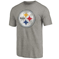 Pittsburgh Steelers Mens Distressed Primary Logo Triblend  T-Shirt