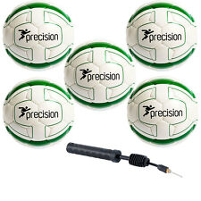 Precision Training Cordino Match Football 5 Ball Pack and Double Action Handpump