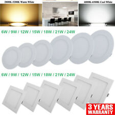 LED RECESSED LIGHT CEILING PANEL FLAT BULB SPOT DOWNLIGHT --KITCHEN DRIVER ROUND