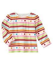 NWT Gymboree Girls Cozy Cutie Striped Top Size 3-6-12-18-24 M 2T 3T & 4T
