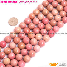 """Natural Gemstone Rhodonite Stone Jewelry Making Beads 15"""" Faceted Beads in Lots"""