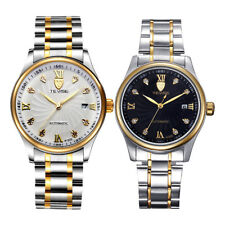 TEVISE Mens Gift Date Crystal Watch Automatic Mechanical Self Winding Watch