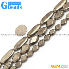 """Natural Silver Gray Color Pyrite Gemstone Oval Beads Free Shipping 15"""""""