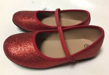 NWT Girls Shoes Flats Red Glitter Dorothy Halloween 9 10 11 12