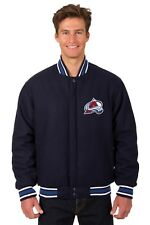 Colorado Avalanche NHL Jacket All Wool Reversible Nylon Embroidered Logos
