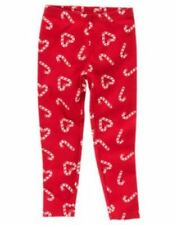 GIRLS 3, 4, 5, 6,   GYMBOREE COZY CUTIE LEGGINGS CANDY CANE/HEART RED