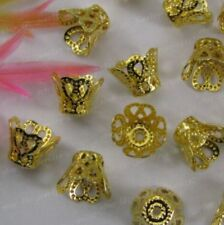 FREE SHIP 100pcs gold plated cup beads caps 9X7MM F0944