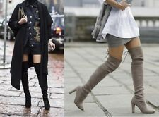 Spring Autumn Woman Boots Fashion Thigh High Heel Boots Sexy Over the Knee Stret
