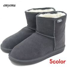 Winter Snow Boots Warm Merino Wool Shoes Cow-Suede Genuine Leather Footwear