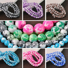 Lots Charms Colorful Crystal Glass Loose Round Spacer Beads 10mm Jewelry Finding