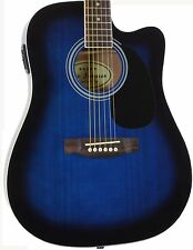 Blue Full Size Thinline Acoustic Electric Guitar with Pickup Jameson Used Demo