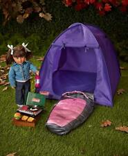 "Coleman 18"" Doll Camping Collection Lantern Tent Sleeping Bag Set Stove Play Set"