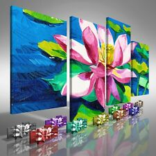 Water Lily Floral Flower Offset Canvas Print Large Picture Wall Print