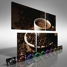 Coffee Cup with Beans Duo Offset Canvas Print Large Picture Wall Print