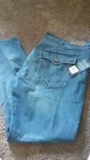 NEW MENS TRUE RELIGION RICKY RELAXED STRAIGHT FLAP POCKET BLUE JEANS SIZE 42 44