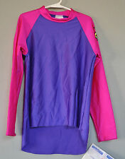 RADICOOL Rash Guard SPF UPF Swimwear Purple Hi Low Surf Top Shirt - Size 2