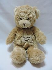 """Teddy Bear Plush Messages From The Heart Sandra Magsamen Soft Tan 13"""" Toy"""