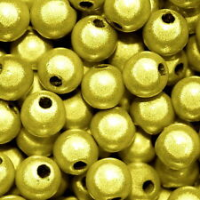 MIRACLE BEAD LEMON YELLOW COLOR IRIDESCENT 4MM 6MM 8MM ROUND JEWELRY CRAFT BEADS