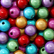 WHOLESALE MIRACLE BEADS 4MM 6MM 8MM ROUND RED BLUE GREEN PURPLE GOLD COLORS