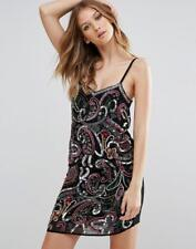 NEW GLAMOROUS @ TOPSHOP SEQUIN EMBELLISHED FRONT STRAPPY CAMI DRESS PARTY LOOK