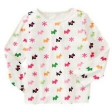 NWT Gymboree Girls Cheery All The Way Ivory Scottie Dog Top Size 4 5 6