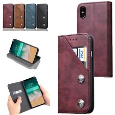 For Apple iPhone X 10 8 7 6S Case Wallet  PU Leather Flip Card Stand Cell Cover