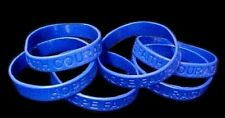 Dark Blue Bracelets Awareness IMPERFECT 6 Piece Lot Silicone Wristband New