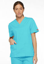 Turquoise Dickies EDS Signature V Neck Scrub Top 86706 TQWZ