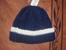 BNWT MENS JOULES MARINERS GRADE WESTBY NAVY WOOL CHUNKY KNIT HAT.RRP £19.95