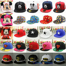 Kids Snapback Baseball Cap Girls Boys Hero Spiderman Mickey Minnie Hip Pop Hat