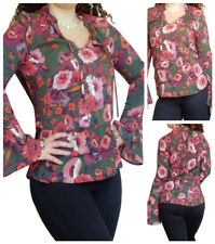 Ladies Tunic Top Long Sleeve Blouse Size 8 10 12 14 16 18 20