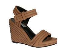 Balenciaga wedges ankle strap sandals in tan color leather