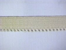 Elastic 1/2 NUDE Beige or RED Dainty Picot Edge 10 yds NEW