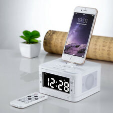 USB Speaker Bluetooth Charging Docking Station Alarm Clock FM for iPhone iPod