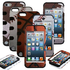 Hybrid Rugged Rubber Ball Combo Hard Case Cover for Apple iPod Touch 5th 6th Gen