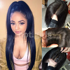 Hot Brazilian Human Hair Lace Front Wig For Women Ladies Glueless Lace Wigs 1B#